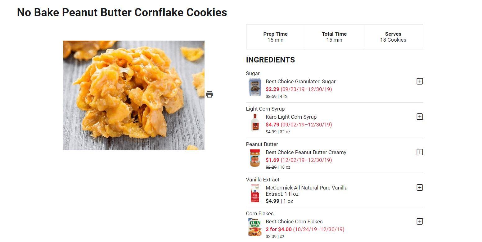 No Bake Cookie Recipe snip